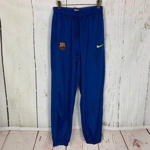 Men's M blue FCB Nike sweat pants zip ankle euc